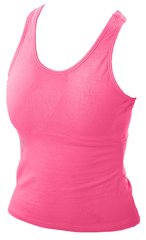 Pizzazz MVP Racer Back Top - Hot Pink