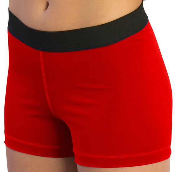 "Pizzazz Pro Comfort Fit 3"" Shorts - Red"