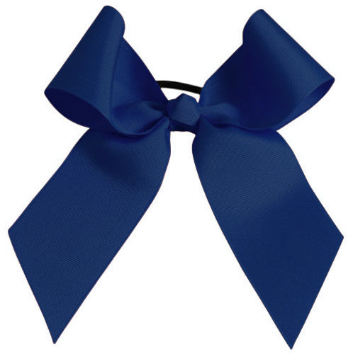 Pizzazz Solid Color Hair Bow - Navy