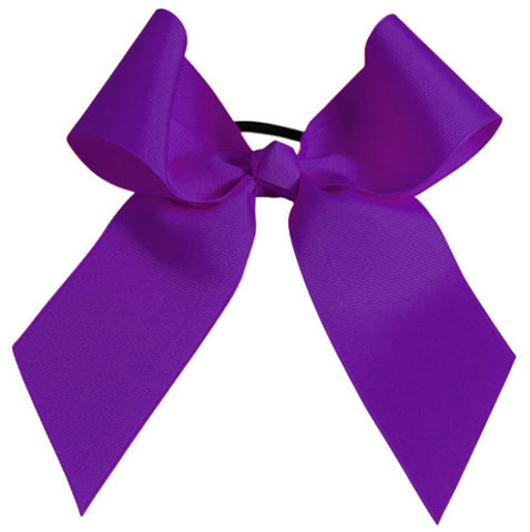 Pizzazz Solid Color Hair Bow - Purple