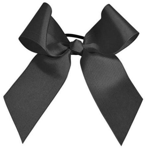 Pizzazz Solid Color Hair Bow - Black