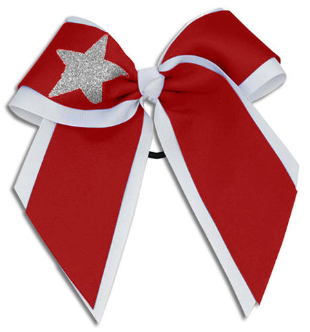 Pizzazz XL Double Layer with Star Bow - Red White