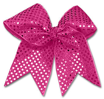 Pizzazz XL Sequin Bow - Hot Pink