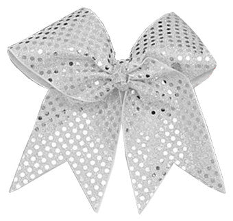 Pizzazz XL Sequin Bow - Silver