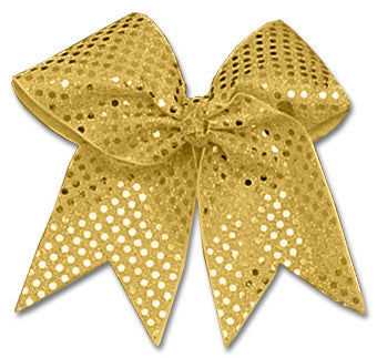 Pizzazz XL Sequin Bow - Gold