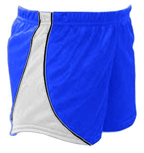 Pizzazz Fusion Mesh Shorts - Royal White