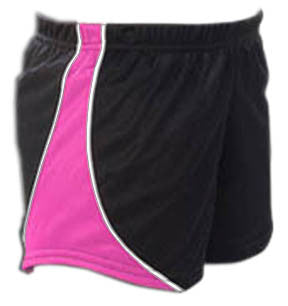 Pizzazz Fusion Mesh Shorts - Black Hot Pink