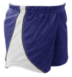 Pizzazz Fusion Mesh Shorts - Navy White