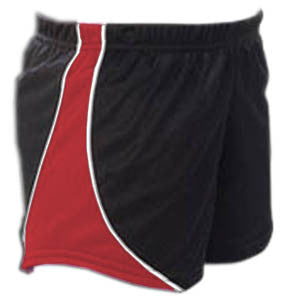 Pizzazz Fusion Mesh Shorts - Black Red