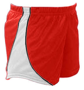 Pizzazz Fusion Mesh Shorts - Red White