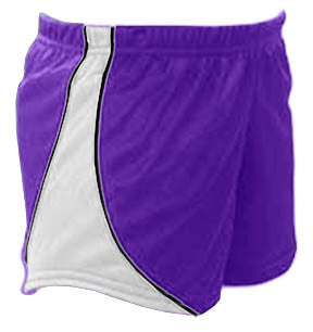 Pizzazz Fusion Mesh Shorts - Purple White