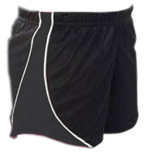 Pizzazz Fusion Mesh Shorts - Black Black