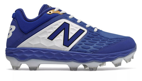 New Balance 3000v4 TPU Molded Cleat Low-Cut - Royal White