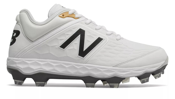New Balance 3000v4 TPU Molded Cleat Low-Cut - White