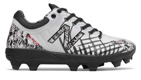New Balance PL4040v5 Pedrola Molded Cleats Low-Cut - White Camo - HIT A Double