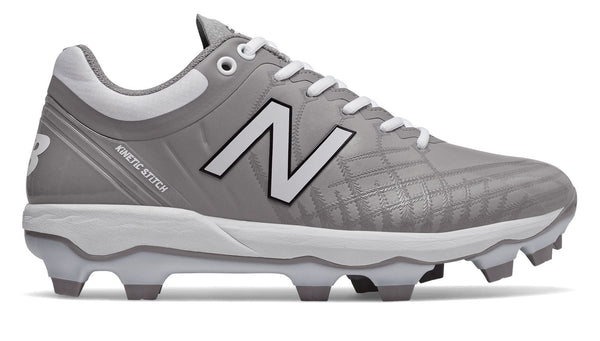 New Balance PL4040v5 Molded Cleats Low-Cut - Gray White - HIT A Double