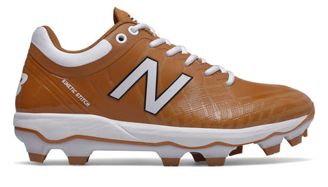 New Balance PL4040v5 Molded Cleats Low-Cut - Texas Orange White - HIT A Double