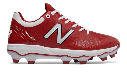 New Balance PL4040v5 Molded Cleats Low-Cut - Cardinal White