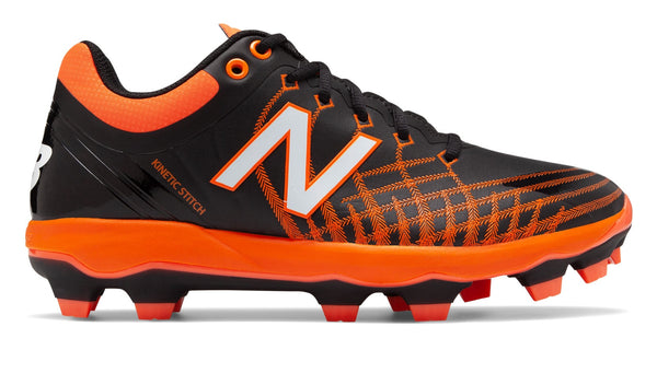 New Balance PL4040v5 TPU Molded Cleats Low-Cut - Black Orange - HIT A Double