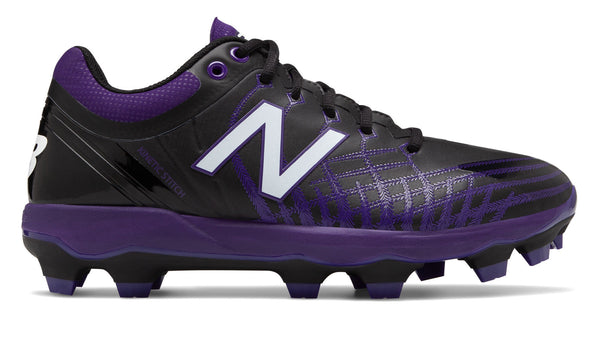 New Balance PL4040v5 TPU Molded Cleats Low-Cut - Black Purple - Baseball Footwear - Hit A Double - 2