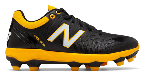 New Balance PL4040v5 TPU Molded Cleats Low-Cut - Black Yellow - HIT A Double