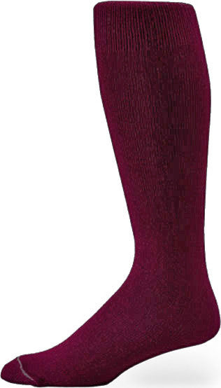 Pro Feet 110-112 Polyester Multi-Sport Tube - Maroon - Basketball, Baseball Apparel, Soccer, Softball Apparel, Football - Hit A Double