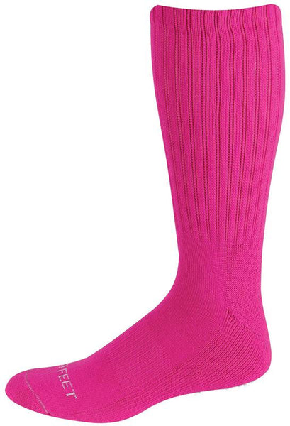 Pro Feet 215 Multi-Sport Crew - Hot Pink - Basketball, Baseball Apparel, Soccer, Softball Apparel, Football, Casual Wear, Tennis - Hit A Double