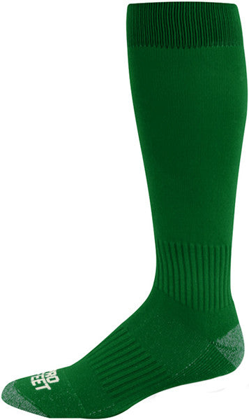 Pro Feet 730 Performance Silver Tech Over-the-calf - Dark Green - Basketball, Baseball Apparel, Soccer, Softball Apparel, Football, Casual Wear - Hit A Double
