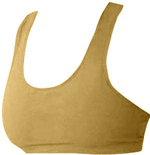Pizzazz MVP Sports Bras with Racer Back - Gold