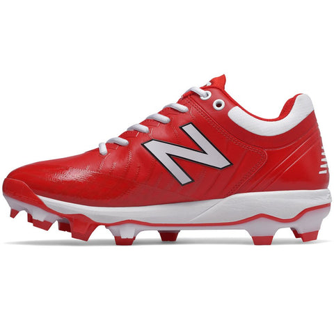 New Balance PL4040v5 Molded Cleats Low-Cut - Red White - HIT A Double