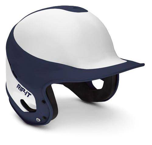 Rip-It Baseball Fit Batting Helmets - White Navy - HIT A Double