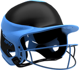 Rip-It Softball Vision Pro Helmet Away - Black Light Blue - HIT A Double