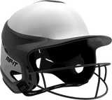 Rip-It Softball Vision Pro Helmet Home - White Black - HIT A Double