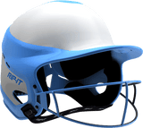 Rip-It Softball Vision Pro Helmet Home - White Light Blue - HIT A Double