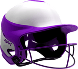 Rip-It Softball Vision Pro Helmet Home - White Purple - HIT A Double