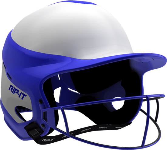 Rip-It Softball Vision Pro Helmet Home - White Royal - HIT A Double