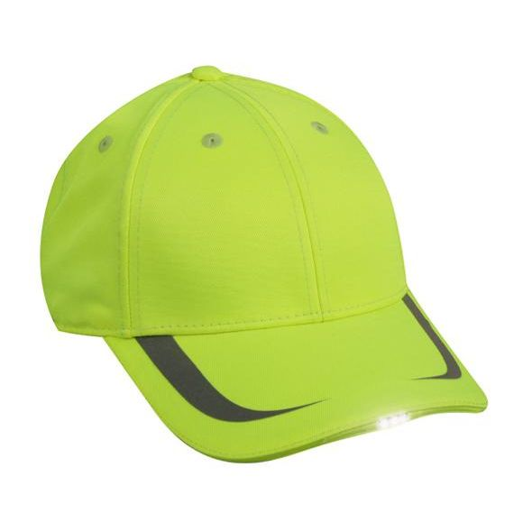 OC Sports SHB-302 Adjustable HiBeam Cap - Safety Yellow - HIT A Double