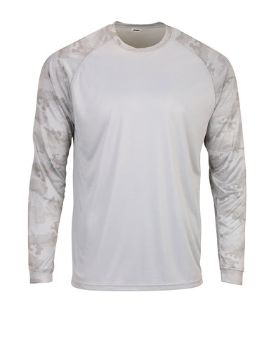 Paragon 216 Adult Cayman Long Sleeve Raglan Tee - Aluminum