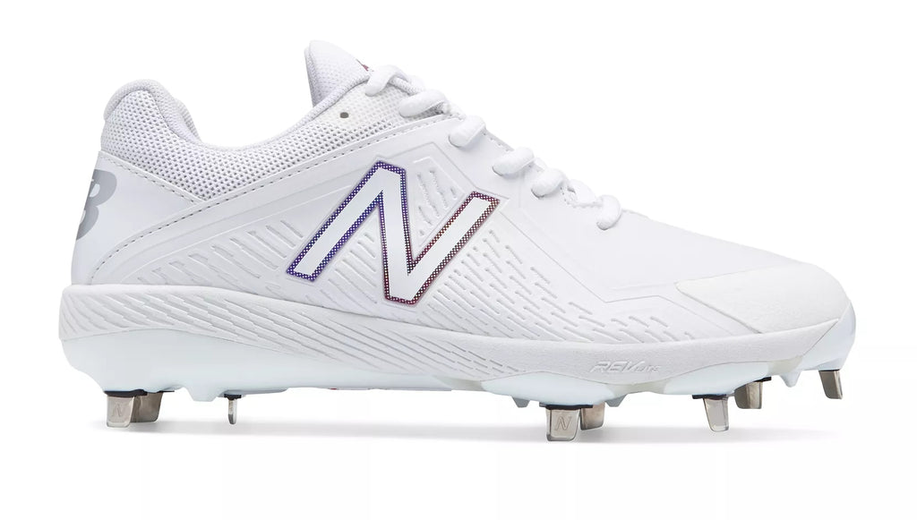 6d6ca3550 New Balance SMFUSEv1 Fastpitch Metal Cleat Low-Cut - White – HIT A ...