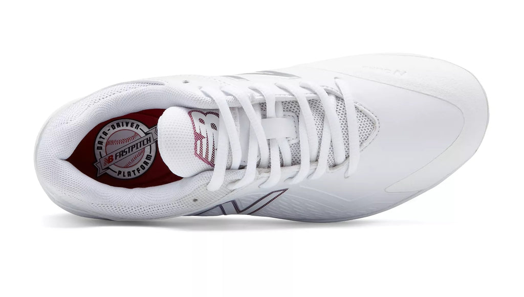 646e1ebc85af New Balance SMFUSEv1 Fastpitch Metal Cleat Low-Cut - White – HIT A ...