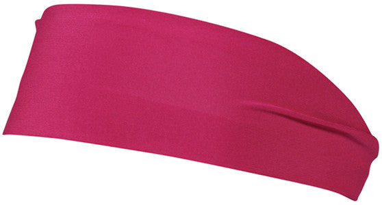 "OC Sports SPH-100 Polyester Spandex 3"" Sports Headband - Fucshia"
