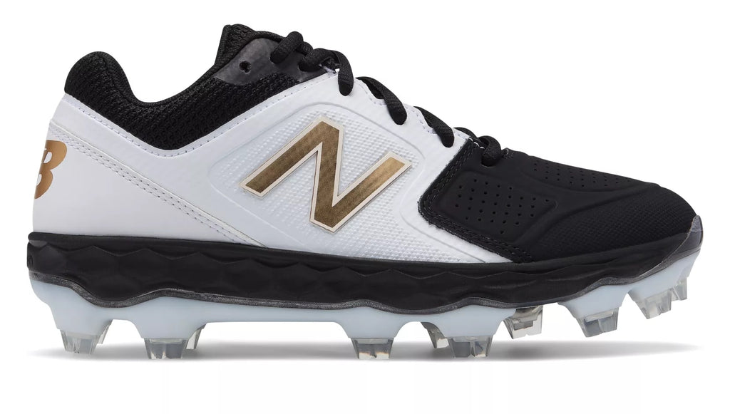 845354b9239e8 New Balance SPVELOv1 Fastpitch TPU Molded Cleat Low-Cut - White Black ...