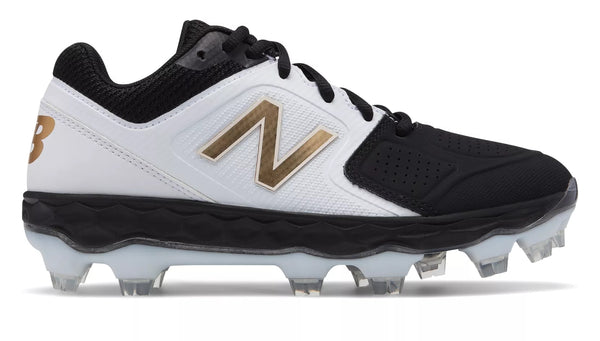 9c4c89247311 New Balance SPVELOv1 Fastpitch TPU Molded Cleat Low-Cut - White Black