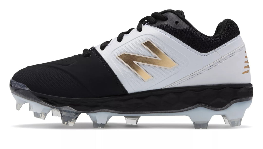 b228c2479be1 ... New Balance SPVELOv1 Fastpitch TPU Molded Cleat Low-Cut - White Black  ...