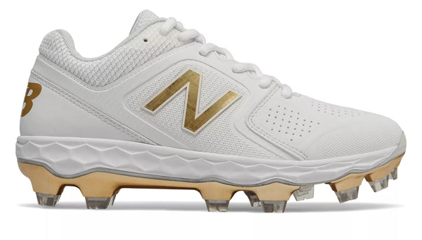 New Balance SPVELOv1 Fastpitch TPU Molded Cleat Low-Cut - White Gold