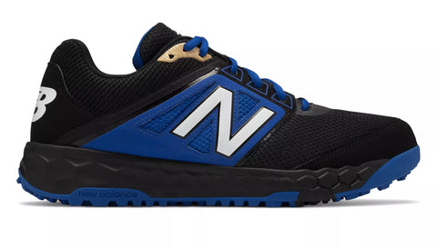 New Balance 3000v4 Fresh Foam Turf Baseball Shoe - Black Blue