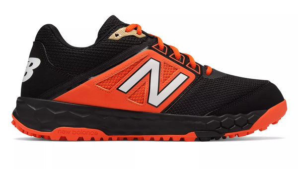 New Balance 3000v4 Fresh Foam Turf Baseball Shoe - Black Orange