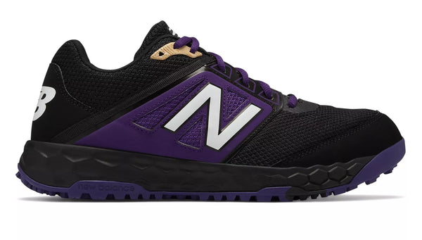 New Balance 3000v4 Fresh Foam Turf Baseball Shoe - Black Purple
