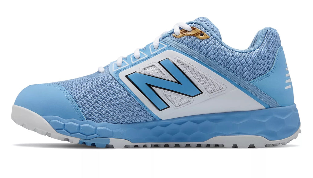 20991e2bf ... New Balance 3000v4 Fresh Foam Turf Baseball Shoe - Baby Blue White ...