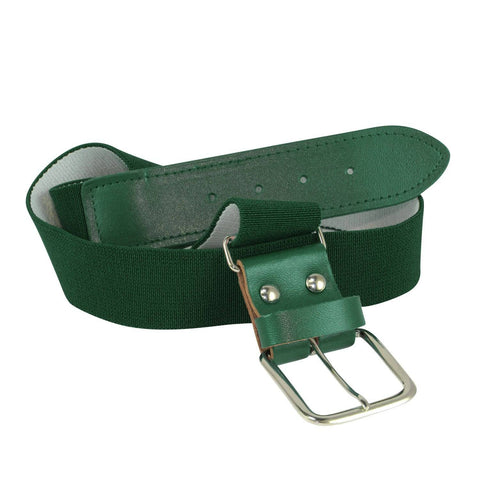 Twin City Adjustable Elastic Baseball Belts - Dark Green - HIT A Double
